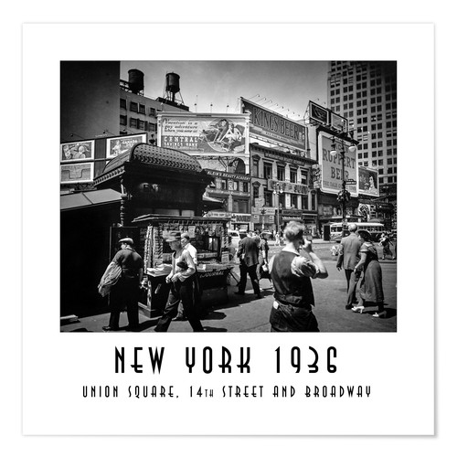 Poster Premium Historic New York: Union Square, 14th Street and Broadway