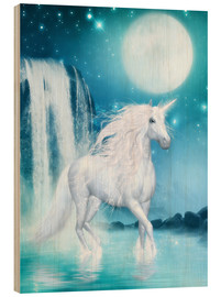 Dolphins DreamDesign - Unicorn - Waterfalls and Moon