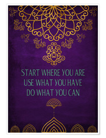 Poster Premium Do what you can