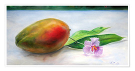 Poster Premium julie mango with orchid