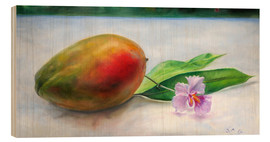 Stampa su legno  julie mango with orchid - Jonathan Guy-Gladding