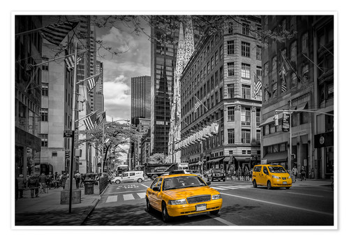 Poster Premium MANHATTAN 5th Avenue