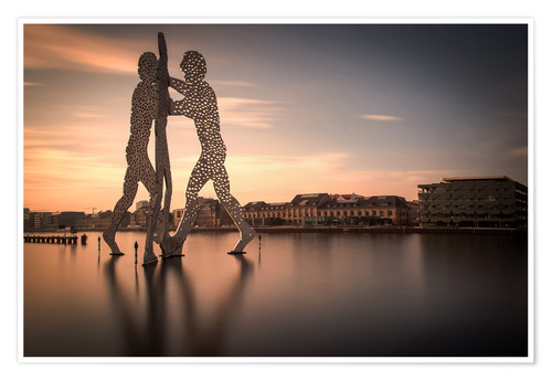 Poster Premium Molecule Men river Spree