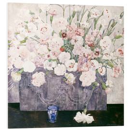 Stampa su schiuma dura  Pinks - Charles Rennie Mackintosh