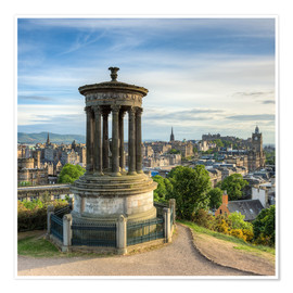 Poster  Edinburgh Scotland View from Calton Hill - Michael Valjak