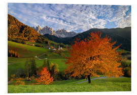 Stampa su PVC  Funes Valley in autumn, Dolomites, South Tyrol, Italy - Roberto Sysa Moiola