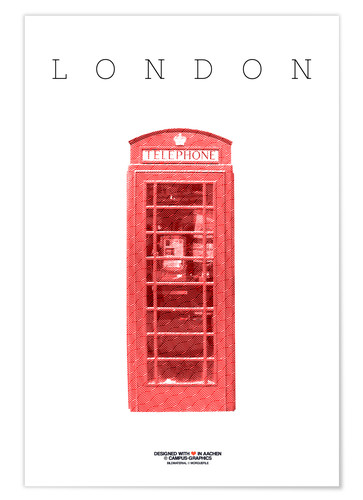 Poster Premium Cabina telefonica City of London