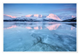 Poster Premium Sunrise,Lyngen Alps,Troms,Norway