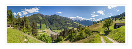 Poster Premium Hiking trail in the Valle Aurina (South Tyrol)