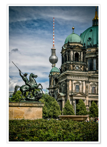 Poster Premium Berlin Cathedral in front of TV tower