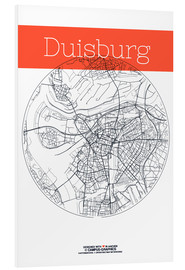 Forex  Duisburg map city black and white - campus graphics