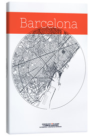 campus graphics - Barcelona Card City Black and White