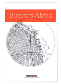 campus graphics - Buenos Aires map city black and white
