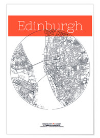 campus graphics - Edinburgh map city black and white