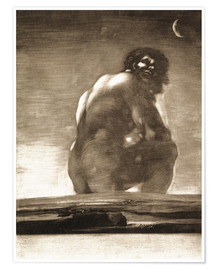 Poster Premium A Giant Seated in a Landscape, The Colossus