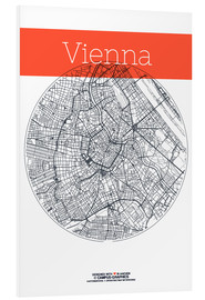Stampa su schiuma dura  Vienna Map County - campus graphics