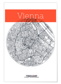 Poster Premium Vienna Map County