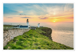 Poster Premium Sunset at Dunnet Head in Scotland