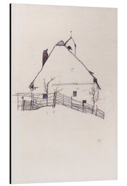 Stampa su alluminio  Residential house with fence - Egon Schiele