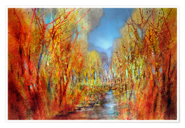 Poster Premium The forests colorful