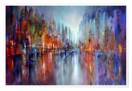 Poster  City by the river - Annette Schmucker