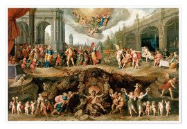 Poster Premium  Mankind's Eternal Dilemma - The Choice Between Virtue and Vice - Frans Francken II