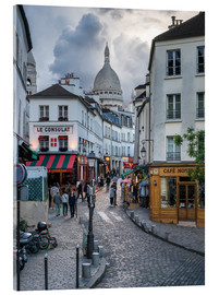 Stampa su vetro acrilico  Streets of Montmartre and Sacre Coeur - Jan Christopher Becke