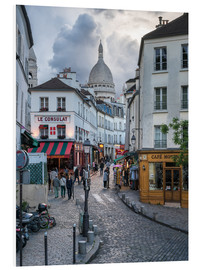Stampa su schiuma dura  Streets of Montmartre and Sacre Coeur - Jan Christopher Becke