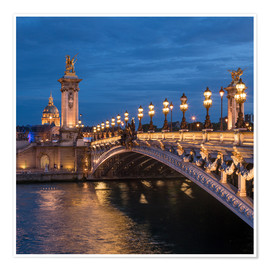 Poster Premium Les Invalides and Pont Alexandre III in Paris, France