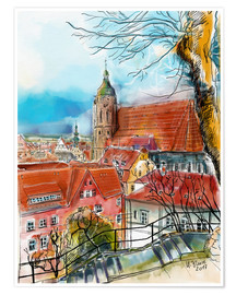 Poster Premium  Pirna, View to the Church of St. Mary - Hartmut Buse