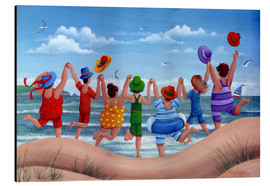 Alluminio Dibond  Beach party rainbow scene - Peter Adderley