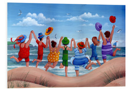 Stampa su schiuma dura  Beach party rainbow scene - Peter Adderley