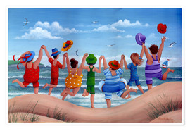 Poster Premium Beach party rainbow scene