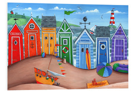 Schiuma dura  Beach hut rainbow scene - Peter Adderley