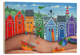 Legno  Beach hut rainbow scene - Peter Adderley