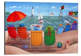 Alluminio Dibond  What a Scorcher rainbow beach scene - Peter Adderley