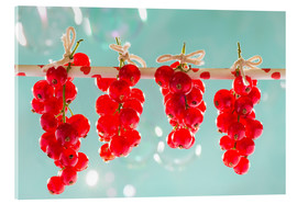 Vetro acrilico  Red currants full - K&L Food Style