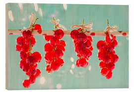 Stampa su legno  Red currants full - K&L Food Style