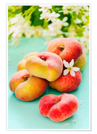 Poster Premium  Peaches full - K&L Food Style