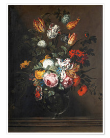 Poster Premium Bouquet of flowers in a Venetian glass vase