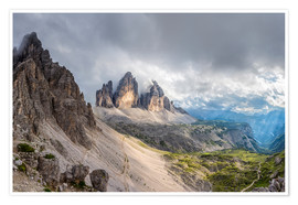 Poster Premium Cloud sky at Tre Cime in Dolomite Alps