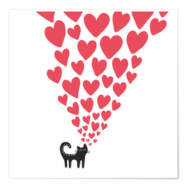 Poster Premium  cat heart - Kidz Collection