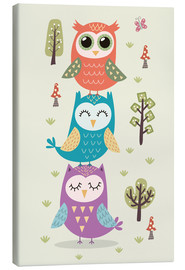 Stampa su tela  Three owls - Kidz Collection