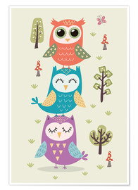 Poster Premium  Three owls - Kidz Collection