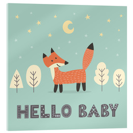 Vetro acrilico  A little fox is standing in the forest - Kidz Collection