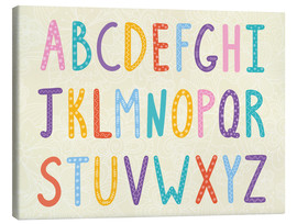 Tela  Colorful ABC letters - Typobox