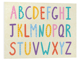 Stampa su schiuma dura  Colorful ABC letters - Typobox