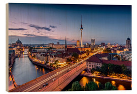 Stampa su legno  Berlin | Nightfall in the capital town - Kristian Goretzki