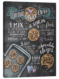 Stampa su tela  Ricetta cookies (in inglese) - Lily & Val