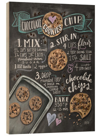 Stampa su legno  Ricetta cookies (in inglese) - Lily & Val